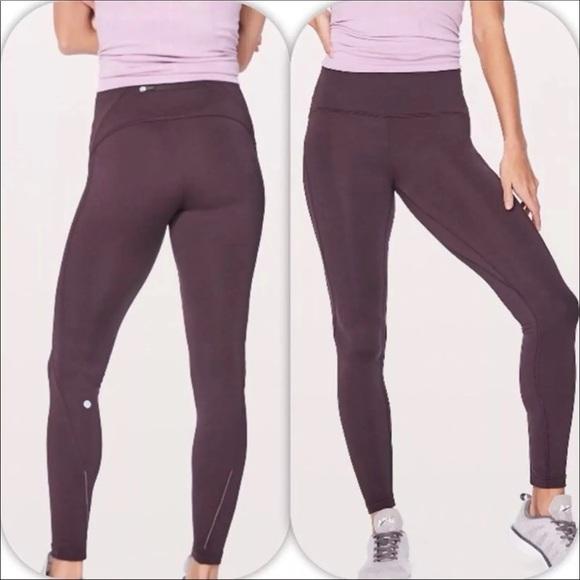 c96b4fdbf3a30 lululemon athletica Pants | Lululemon Black Cherry Fast As Fleece ...